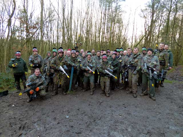 corporate day out in woods