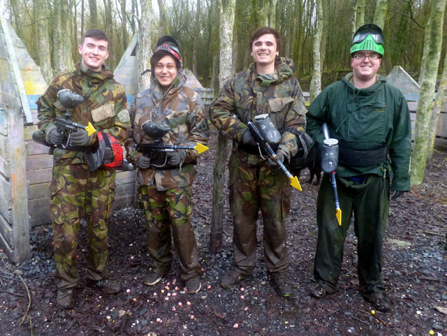 friends paintball day out