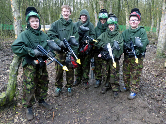 kids paintballing birthday party