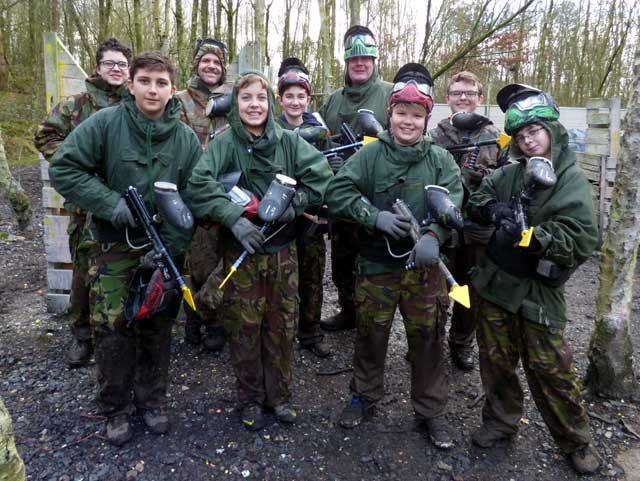 lads and dads paintballing