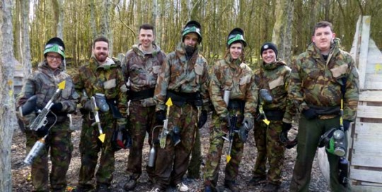 paintball friends day out