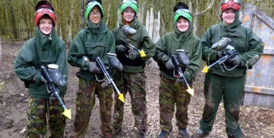 kids paintball burnley