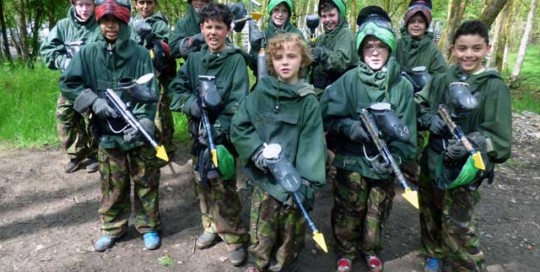 young guns paintballing