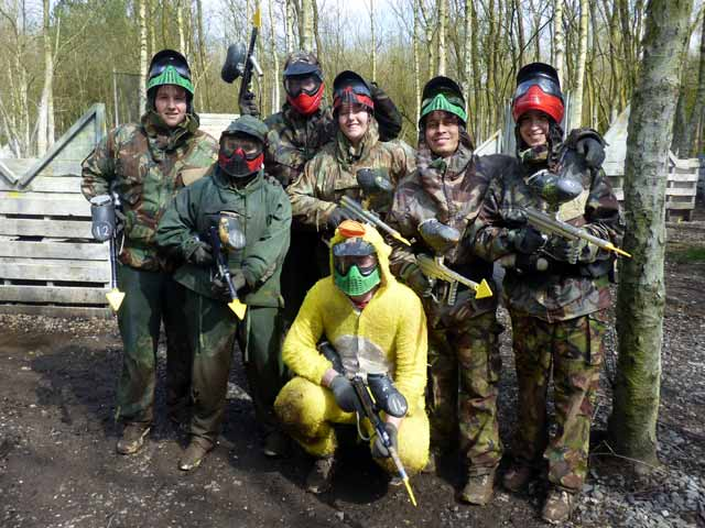 chicken suit at paintball